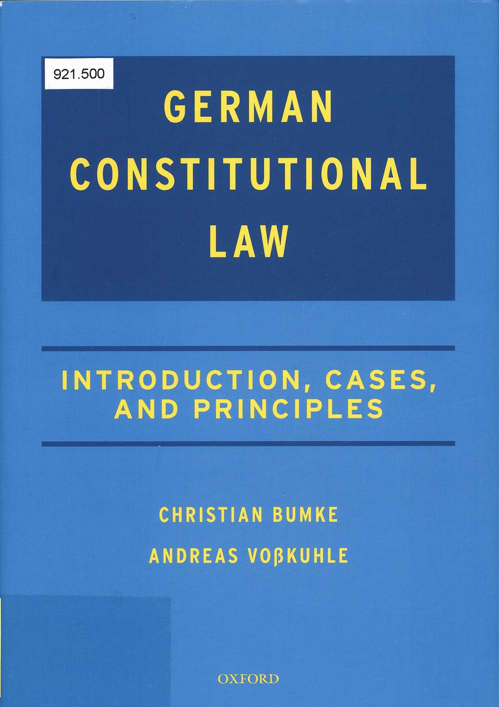 German Constitutional Law